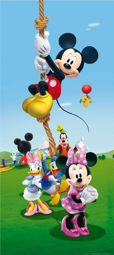 Minnie Mickey Donald and Goofy mural wallpaper 90x202cm